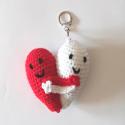 Porte-clés couple en coeur
